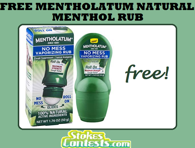 FREE Mentholatum No Mess Natural Menthol Rub