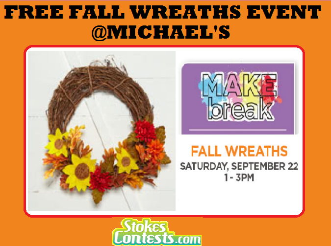 FREE Fall Wreaths Event @Michael's