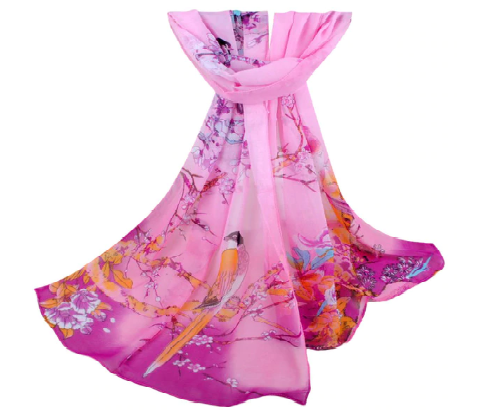 Win 1 of 6 Flower & Birds Printed Scarves
