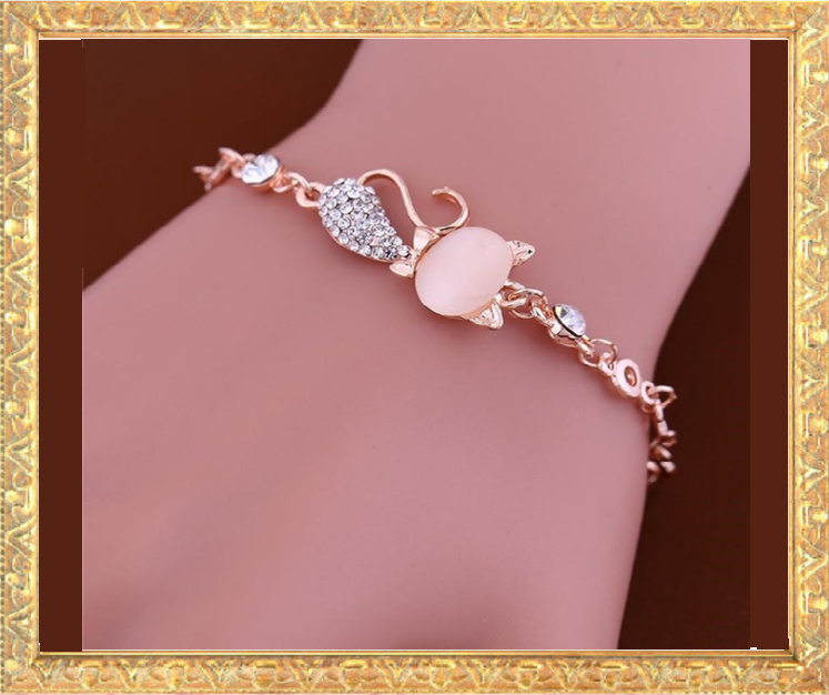 Win 1 of 5 CRYSTAL Cat Bracelets