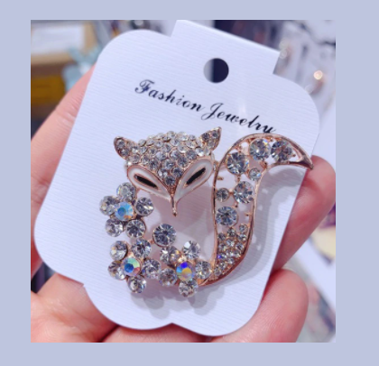 Win 1 of 5 CRYSTAL Fox Brooches