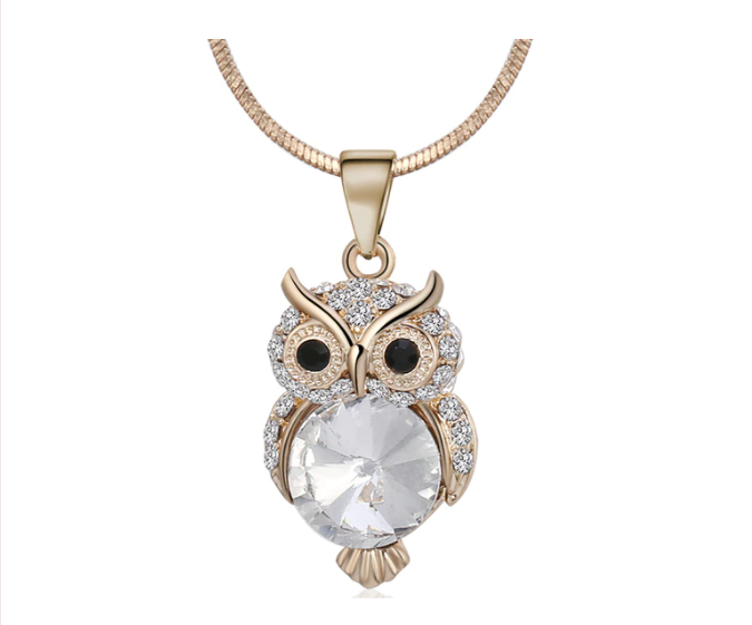Win 1 of 4 CRYSTAL Owl Necklaces