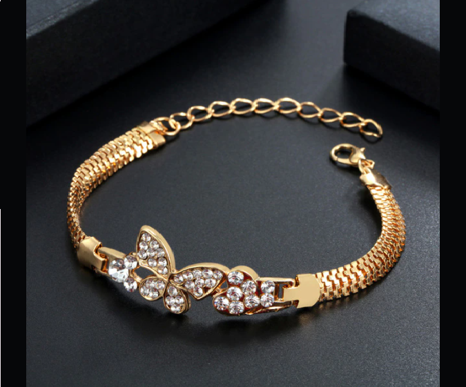 Win 1 of 6 CRYSTAL Butterfly Bracelets
