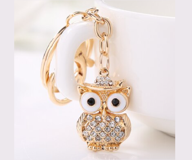 Win 1 of 4 CRYSTAL Owl Keychains