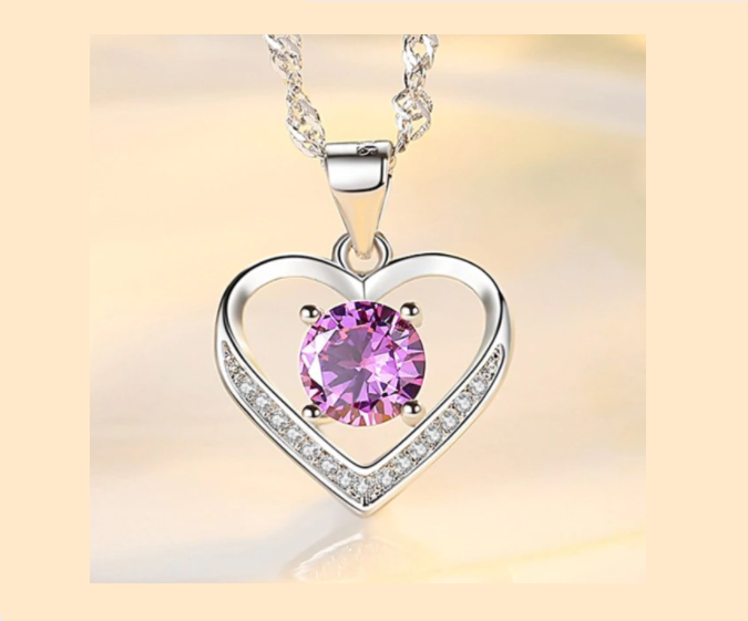 Win 1 of 5 SILVER & SAPPHIRE Heart Necklaces