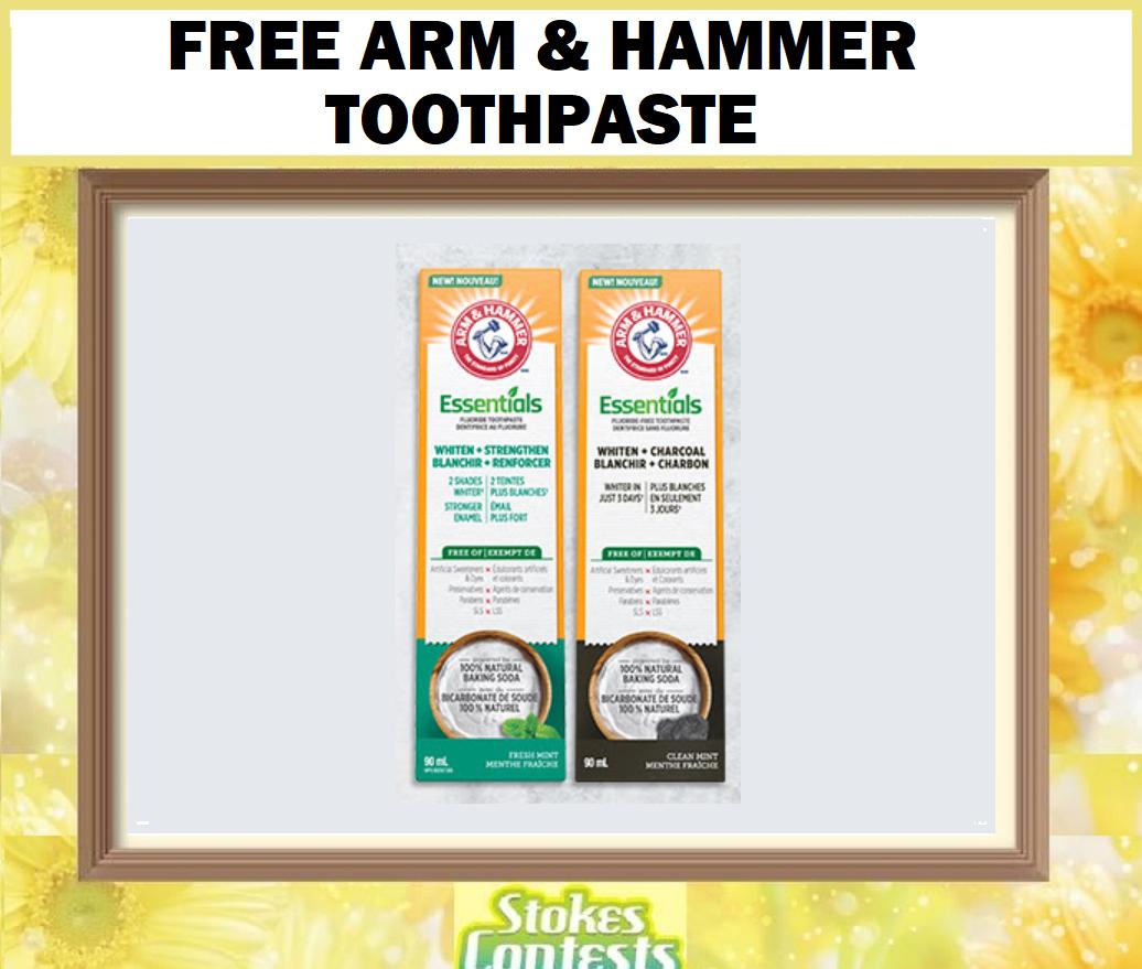 FREE Arm & Hammer Essentials Toothpaste
