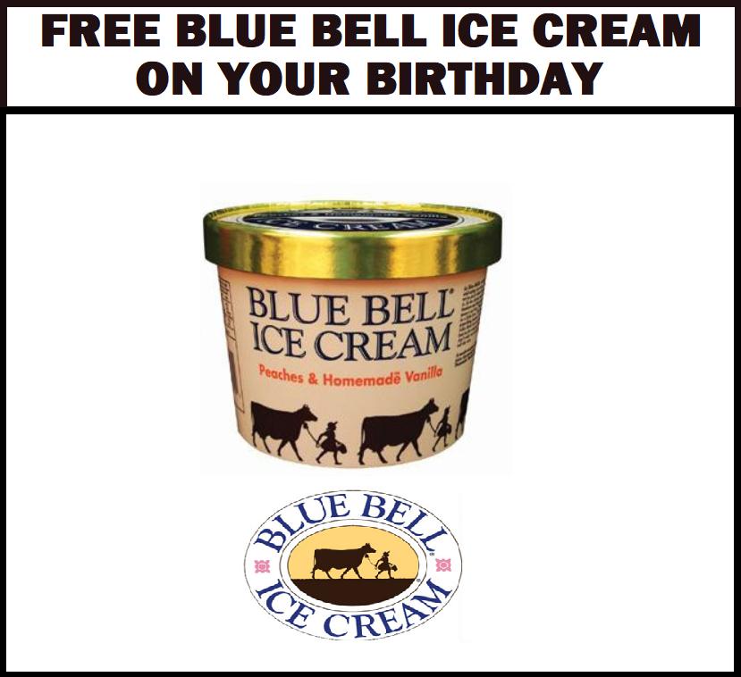 FREE Blue Bell Ice Cream on Your Birthday