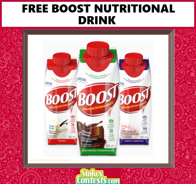 FREE Boost Nutritional Drink