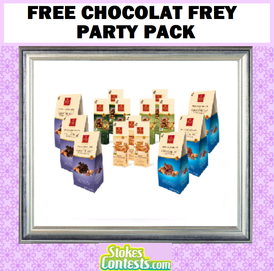 FREE Chocolat Frey Party Pack! WORTH $60!