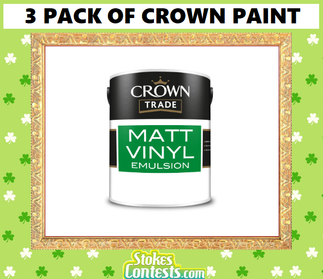 3 Pack of Crown Paint
