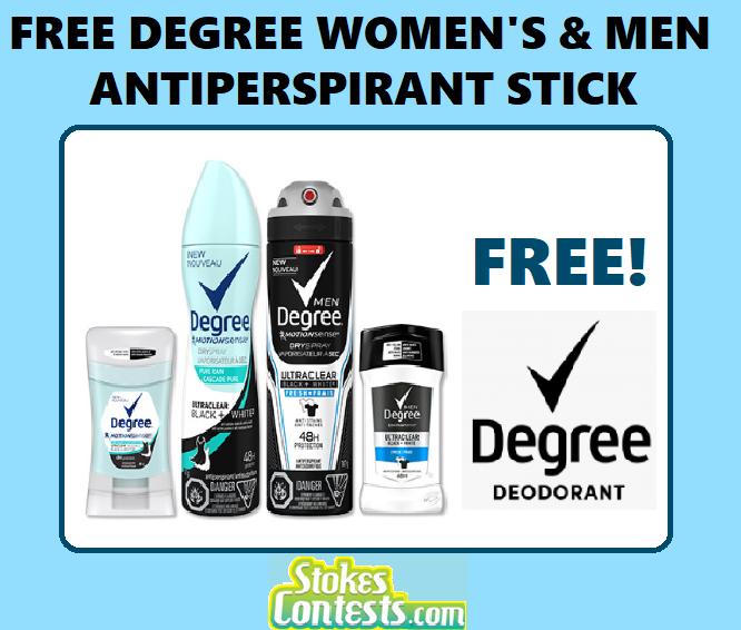 FREE Men's & Women's Degree Antiperspirant Stick SET
