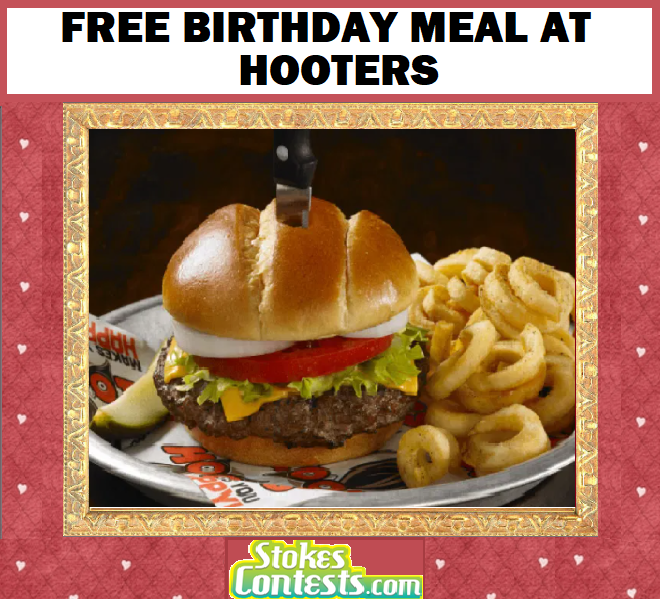 FREE Birthday Meal at Hooters