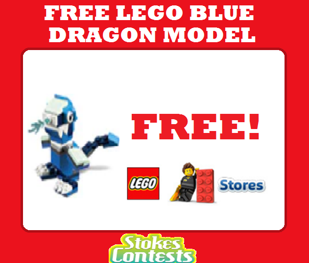 FREE LEGO Blue Dragon Model