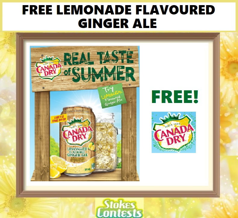 FREE Canada Dry Lemonade Flavoured Ginger Ale