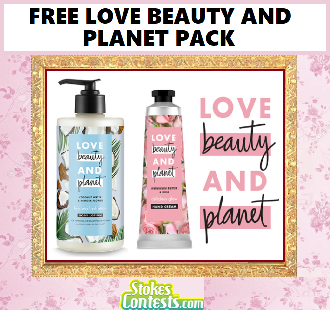 FREE Love Beauty and Planet Pack! 100% VEGAN!