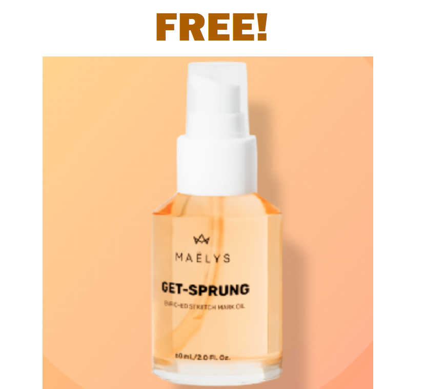 FREE Bottle of MAELYS Enriched Stretch Mark Oil