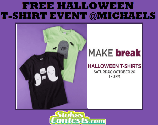 FREE Halloween T-Shirt Event @Michaels