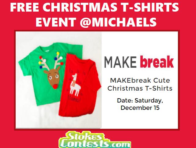 FREE Christmas T-Shirt Event @Michaels