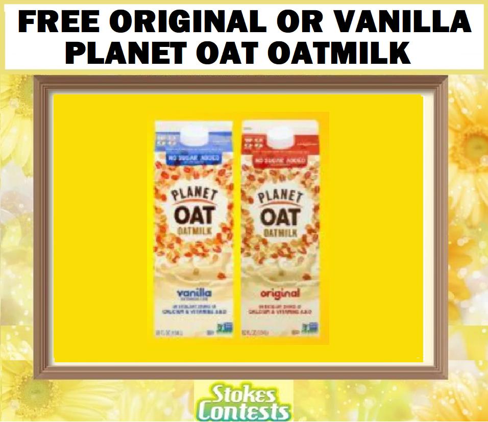FREE Original or Vanilla Planet Oat Oatmilk