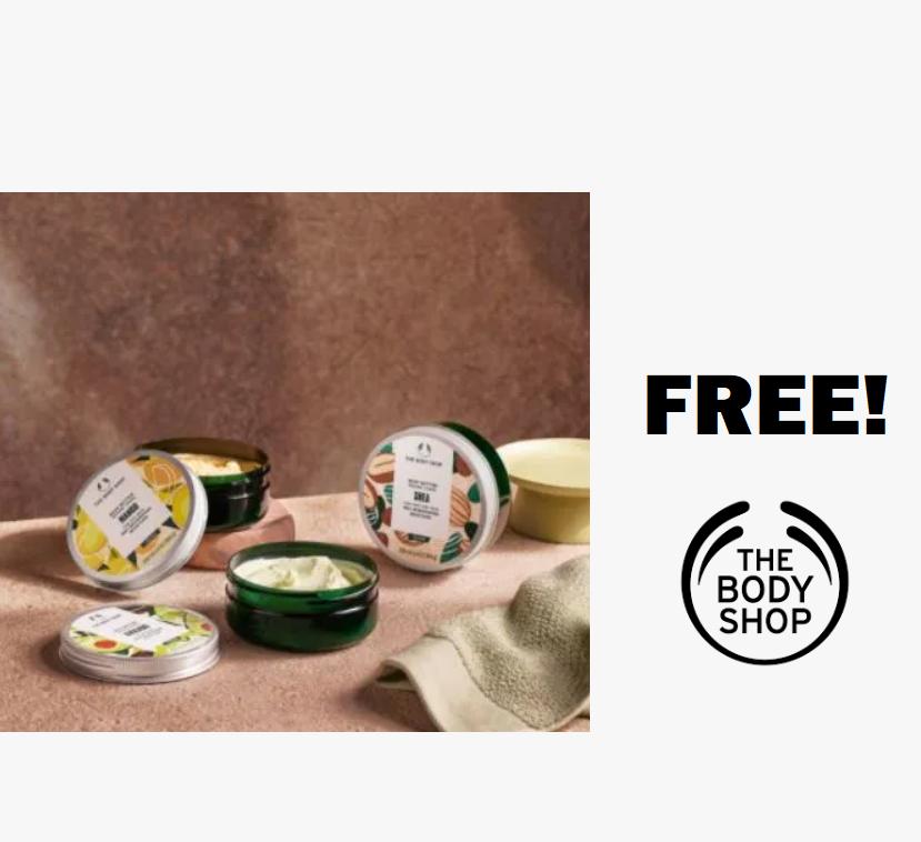 FREE Body Shop Nourishing Body Butter!
