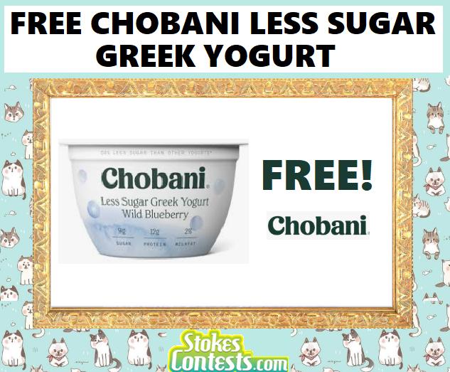 FREE Chobani Less Sugar Yogurt
