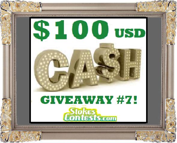 $100 CASH Giveaway #7
