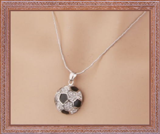Win 1 of 7 Crystal Soccer Necklaces