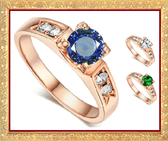 Win 1 of 7 Austrian CRYSTAL & CUBIC ZIRCONIA Rings