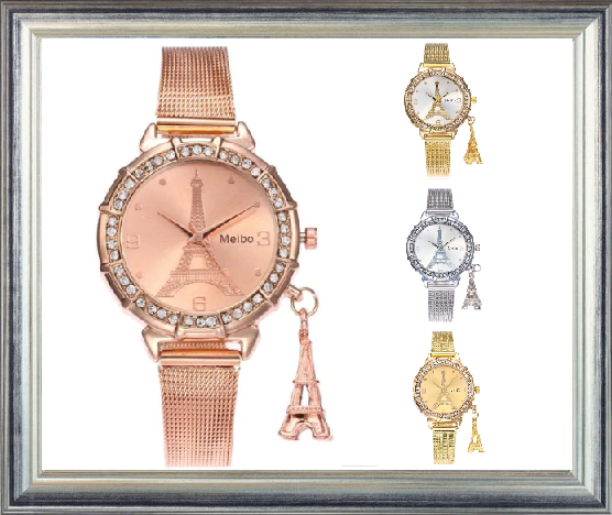 Win 1 of 5 CRYSTAL Eiffel Tower Meibo Watches