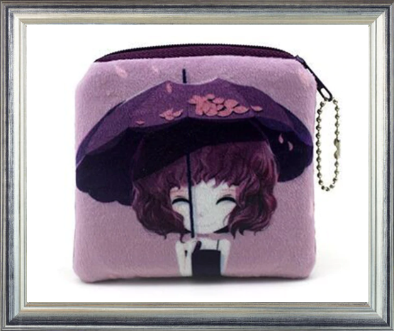 Win 1 of 7 Cute Anime Girl Coin Purses