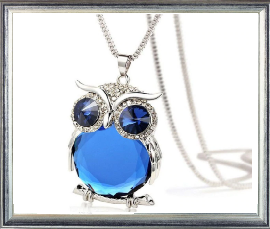 Win 1 of 5 CRYSTAL Owl Necklaces!