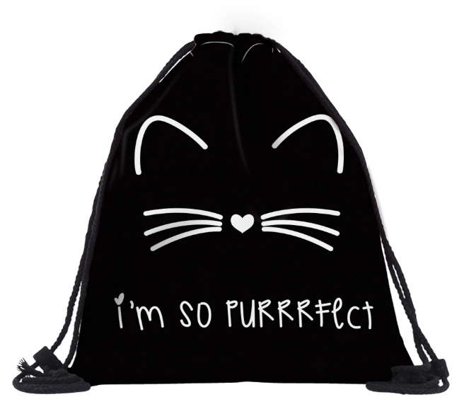 Win 1 of 3 Cat Pattern Drawstring Bags