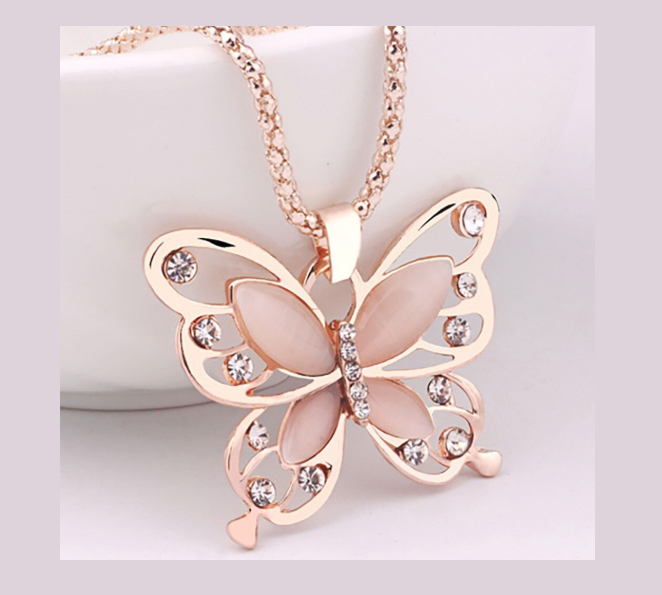 Win 1 of 5 CRYSTAL Butterfly Necklaces!