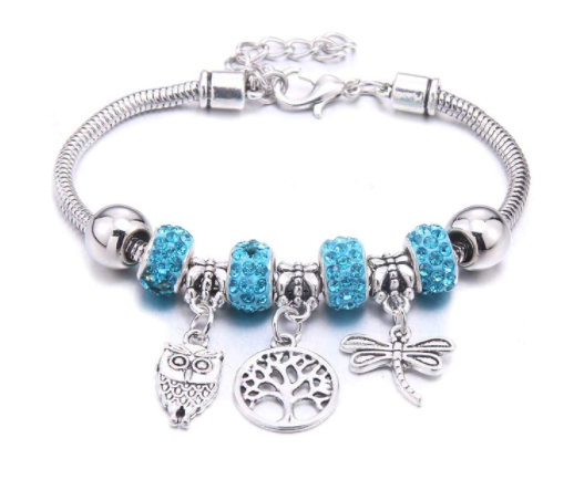 Win 1 of 5 CRYSTAL Owl Charm Bracelets