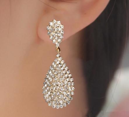 Win 1 of 4 CRYSTAL Drop Earrings