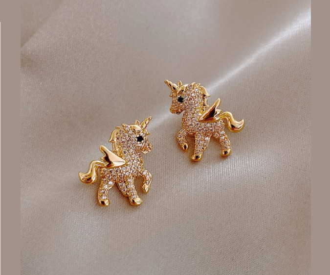 Win 1 of 6 CRYSTAL Unicorn Earrings